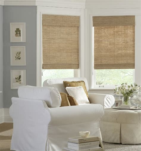 bay window curtain ideas kitchen curtains for bay windows curtain rod bay boutique woven shades grass weaves blindsgalore