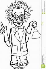 Scientist Mad Cartoon Drawing Scienziato Disegno Coloring Standing Drawings Pazzo Fumetto Lavagna Sta Che Whiteboard Colorare Bambini Disegni sketch template