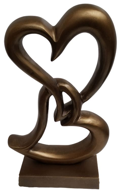 Metal Sculpture - Bronze Double Heart