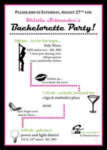 Miss Fit Academy Pole Dance Party Invitations