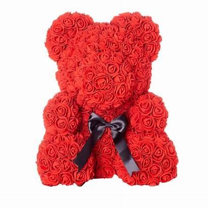 Bear Rose Teddy Forever Petal Ribbon