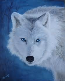 White Wolf with Blue Eyes