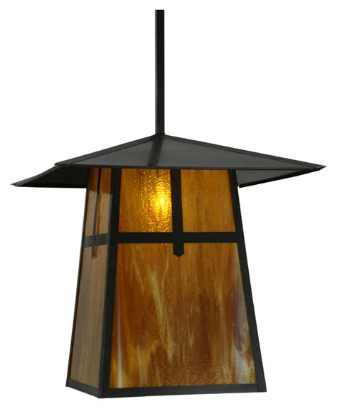 craftsman style hanging outdoor light meyda tiffany 138217 stillwater cross mission craftsman 24