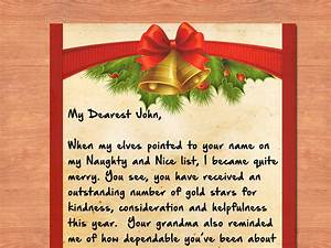 3 ways to write a letter from santa wikihow With have santa write your child letter