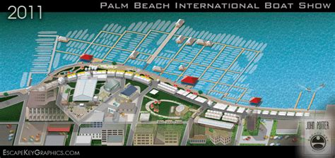 Address Of Palm Beach Boat Show by Custom Illustrated Maps 2018 Palm Beach International