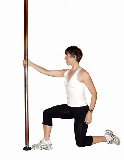 Pole Exercise Dancing Lunge Transparent Muscles Come