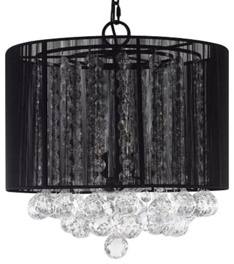 small black drum l shade classic chandelier with drum shade and crystal balls