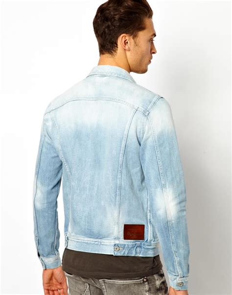 light wash denim jacket mens mens light blue denim jacket coat nj