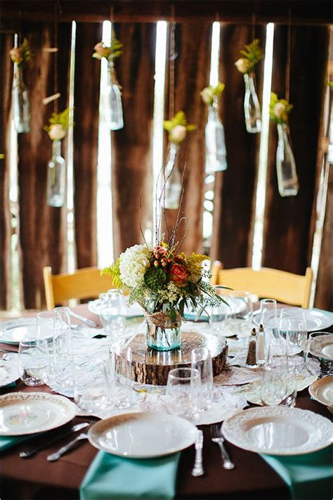 rustic fall farm wedding table decor  weddings