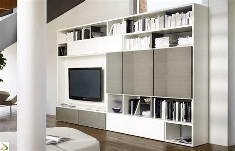 libreria parete parete libreria soggiorno in legno giaco arredo design