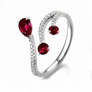 ruby and diamond engagement ring on 10k white gold With gold wedding rings with ruby