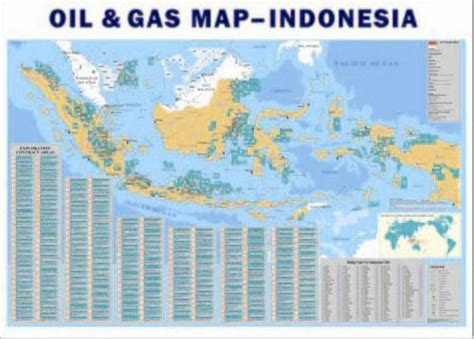 indonesia oil gas map buy map oil gas petrochemical