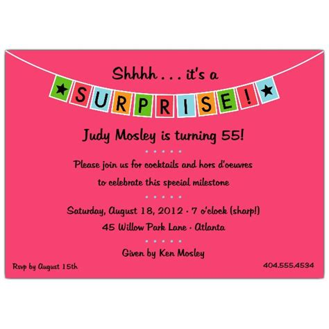 banner blue surprise party invitations paperstyle