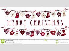 Christmas Card Advent Calendar Royalty Free Stock