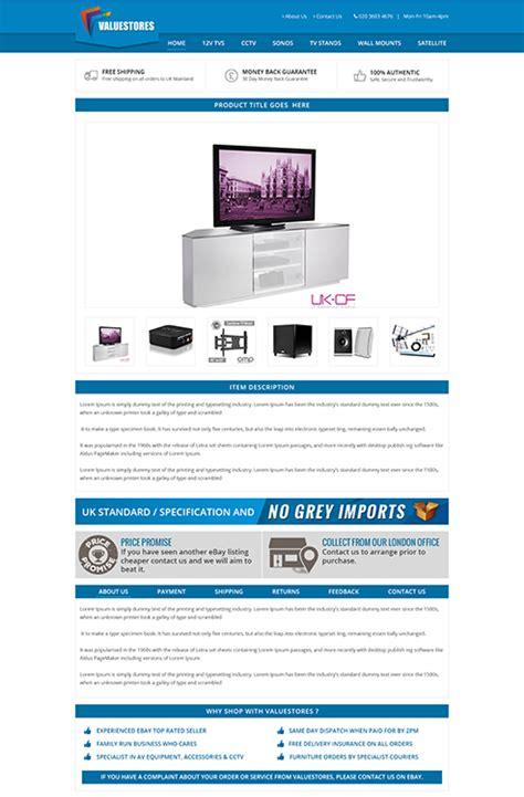free ebay listing templates custom ebay shop listing template portfolio