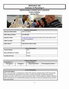 Create A Syllabus Template Bio 168 Edgecombe Cc Spring 2016 New Template By Nahel