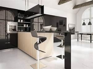 1001 conseils et idees pour la deco cuisine scandinave With idee deco cuisine avec chaise salle a manger en bois massif