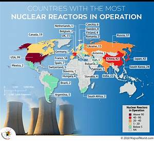 What are the countries with most nuclear reactors? - Answers