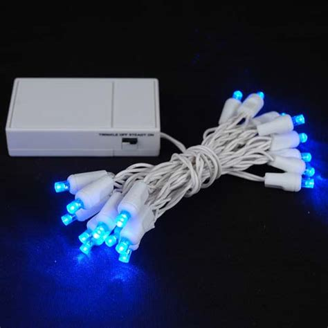 christmas lights that run on batteries 20 led battery operated lights blue on white wire