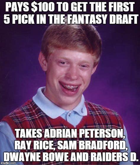 Sam Bradford Memes - bad luck brian meme imgflip
