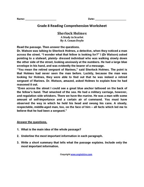 worksheet free comprehension worksheets for grade 3