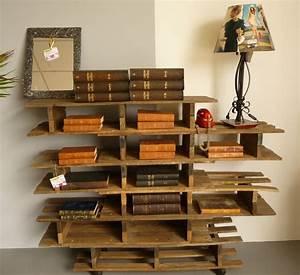 étagère En Palette : etagere en palette good nice table de chevet murale with ~ Dallasstarsshop.com Idées de Décoration