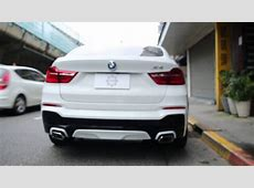 BMW MPerformance Exhaust F26 X4 35i YouTube