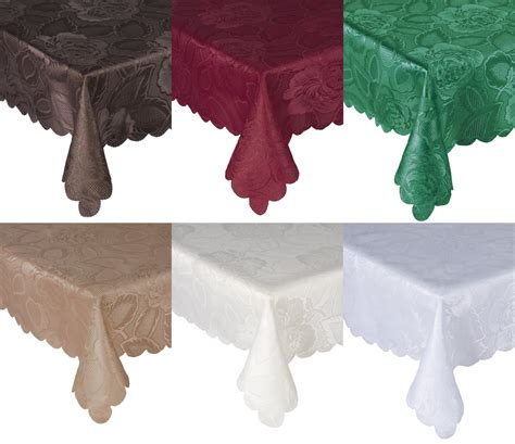 tablecloth for oval table traditional floral tablecloth luxury damask rose table