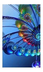 Blue Fractal Flowers Art HD Abstract Wallpapers | HD ...
