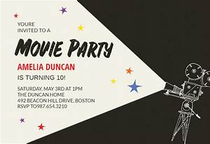Invitation For Farewell Party Movie Party Sleepover Party Invitation Template Free
