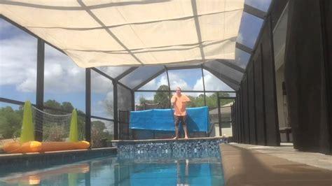 diy retractable pool shade youtube