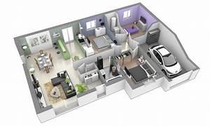 douceur champetre traditionnelle maison individuelle de With plan d appartement 3d 12 plan maison 110m2 plain pied
