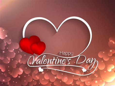 Abstract Happy Valentine's Day greeting background ...
