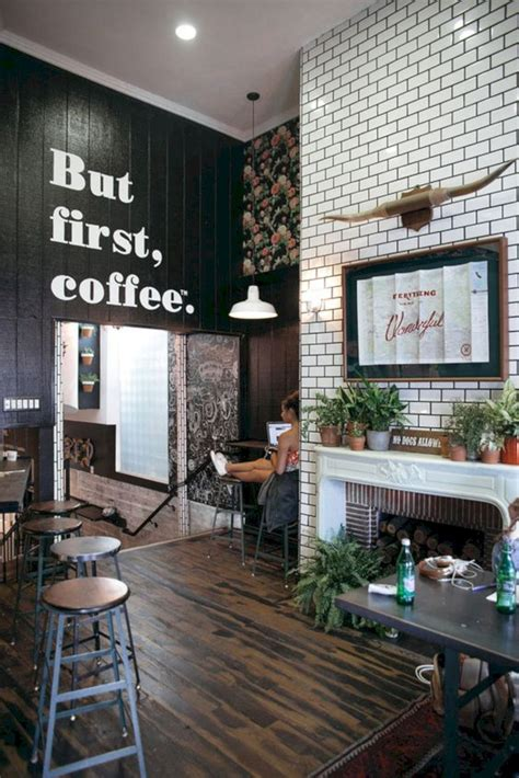Maintain a healthy balance of modern elements like stylish lamps or couches with all the rustic elements we just mentioned above while creating this kind of interior design. 16 Small Cafe Interior Design Ideas   Cafe interior design, Coffee shop interior design, Cafe ...