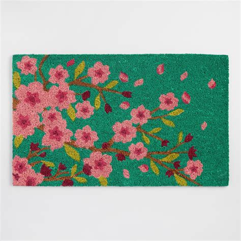 Teal Doormat by Teal Cherry Blossom Doormat World Market