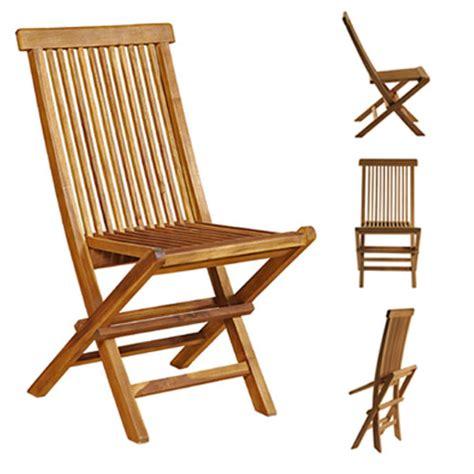 chaises en teck lot de 4 chaises de jardin pliantes en bois de teck huilé