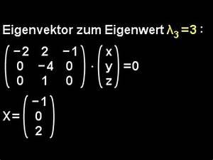 Eigenvektoren Berechnen 3x3 : eigenwerte eigenvektoren bestimmen 3x3 matrix youtube ~ Themetempest.com Abrechnung