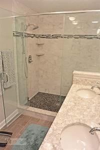 This, Warm, Transitional, Bathroom, Design, In, A, Walden, Garage