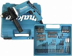 Makita Bohrfutter Wechseln : makita schlagbohrmaschine im koffer 710 w inklusiv 74 teilig zubeh r hp1631kx3 ~ Orissabook.com Haus und Dekorationen