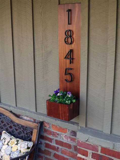 wall hanging planter box  house numbers