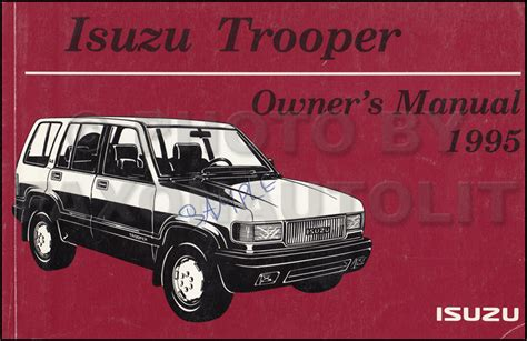 book repair manual 1998 isuzu rodeo electronic throttle control 1995 isuzu trooper air bag repair shop manual supplement original