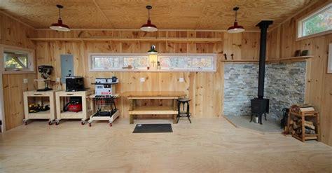 pole barn woodshop wood shop pale wood wood crafts