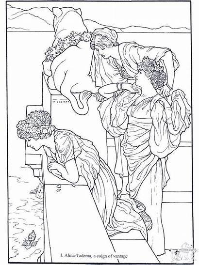 Coloring Pages Alma Tadema Mermaid Painter Coloriage