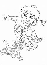 Diego Coloring Pages Printable Go sketch template