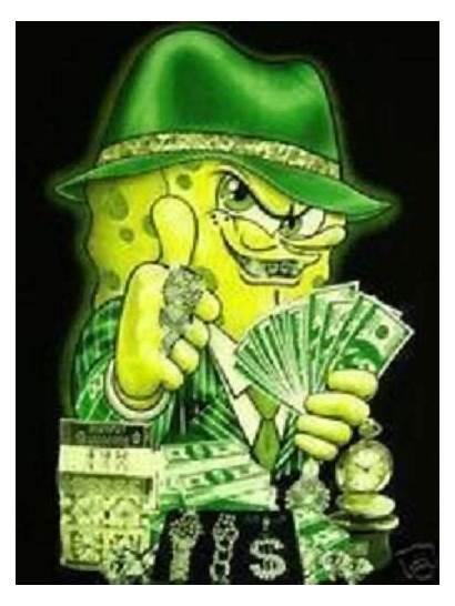 Spongebob Squarepants Gangster Young Fan Bad Thug