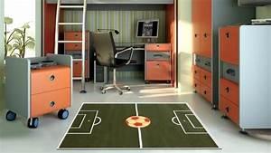 le football marque un but dans la decoration With tapis chambre enfant avec canapé lc3 occasion