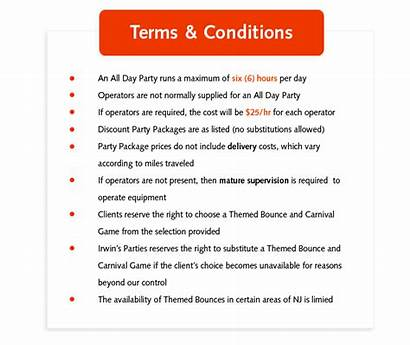 Terms Park Conditions