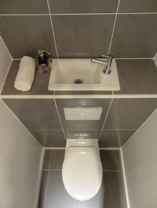 Installer Un Wc : vous manquez d 39 espace pour installer un lave mains dans ~ Melissatoandfro.com Idées de Décoration