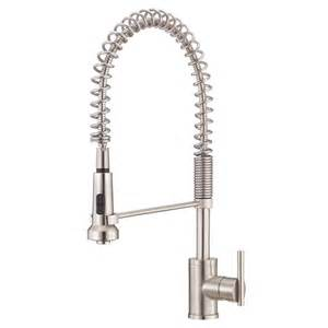 shop danze parma stainless steel 1 handle pre rinse kitchen faucet at lowes