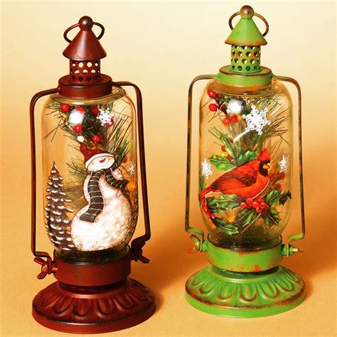 gerson  bo lighted metal glass holiday lantern